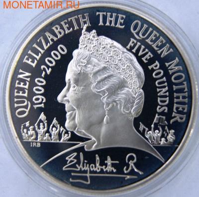 Великобритания 5 фунтов 2000. Королева-мать Елизавета. (фото)