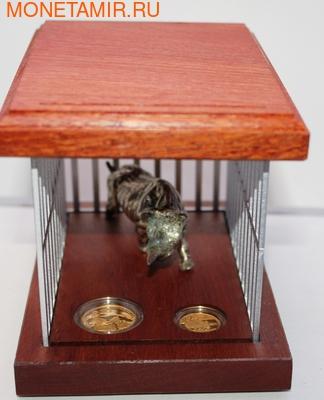 Южная Африка 10+20 рандов 2010 Черный Носорог (South Africa 10R+20R 2010 Natura Black Rhino Gold Proof 2 Coin Set).Арт.K1,5/60 (фото)