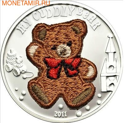 """""""Мишка"""" """"Вязанный"""" (мальчик). Палау 5 долларов 2011. (фото)"""