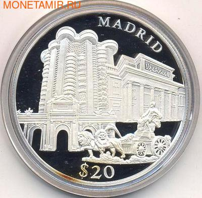Либерия 20 долларов 2000. Города мира. Мадрид. (фото)