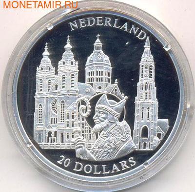 Либерия 20 долларов 2001. Города и страны Европы. Нидерланды. (фото)