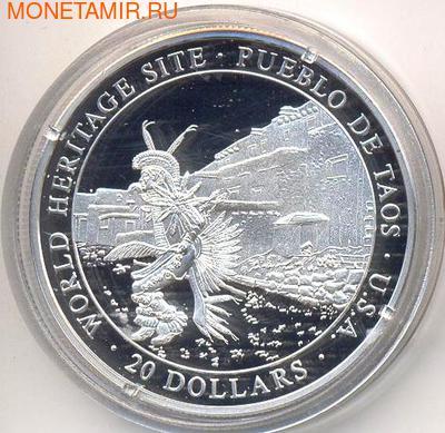 Либерия 20 долларов 2000. Города мира. Таос. (фото)