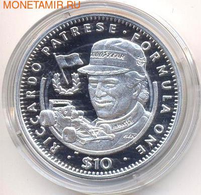 Формула-1. Риккардо Патрезе. Либерия 10 долларов 1992. (фото)