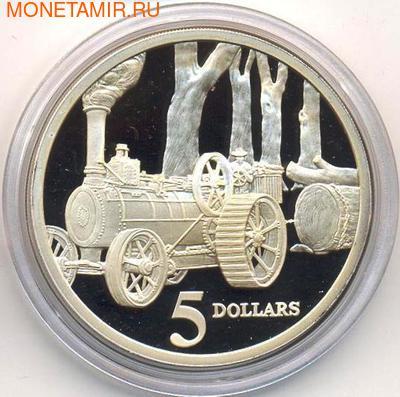Паровой трактор. Австралия 5 долларов 1997. (фото)