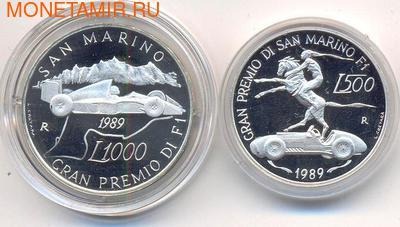 Сан-Марино 1000 лир 1989. Гран-при Сан-Марино 1989 в классе Формула-1. (фото)
