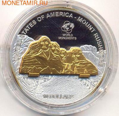 Рашмор. Острова Кука 10 долларов 2008. (фото)