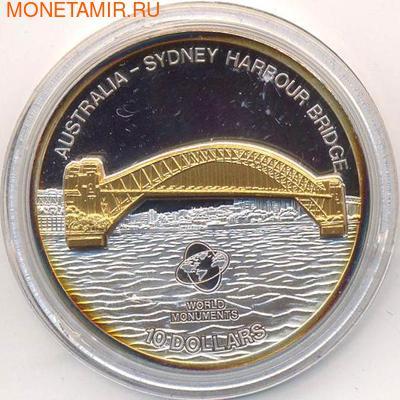 Сиднейский мост. Острова Кука 10 долларов 2007. (фото)