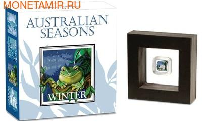 Австралия 1 доллар 2013. Времена года - зима. Лягушка