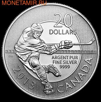 Канада 20 долларов 2013. Хоккеист (фото)