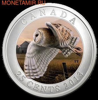 Канада 25 центов 2013. Сова (фото)