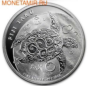 "Фиджи 1 доллар 2013.""Морская Черепаха Таку"" (фото)"