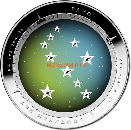 Австралия 5 долларов 2013 Созвездие Павлин Южное Полушарие Выпуклая (Australia 5$ 2013 Southern Sky Pavo Domed 1oz Silver Coin).Арт.000360747765/60 (фото)