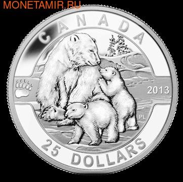 Канада 25 долларов 2013.Полярный медведь с детенышами.Арт.000279244188/60 (фото)
