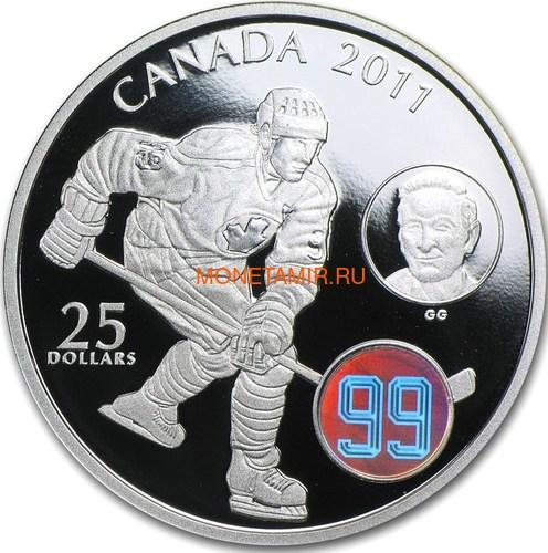 Канада 25 долларов 2011. Хоккей 99. Вальтер Гретцки.Арт.000560649500/60 (фото)
