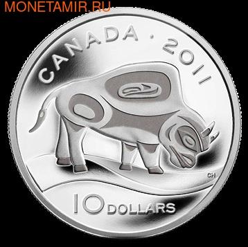 Канада 10 долларов 2011.Бизон.Арт.000189938597/60 (фото)