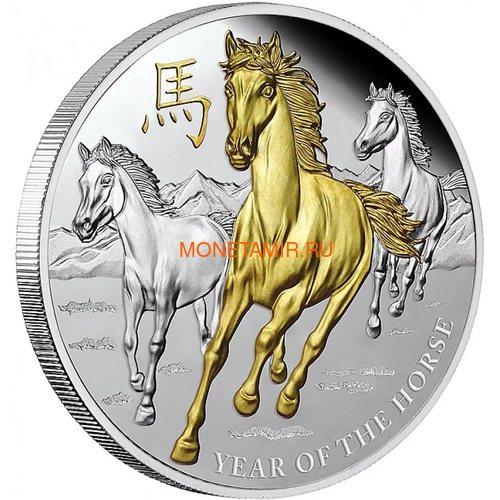 Ниуэ 8 долларов 2014 Год Лошади (Niue 8$ 2014 The Year of Horse 5Oz Silver).Арт.001194144867/60 (фото)