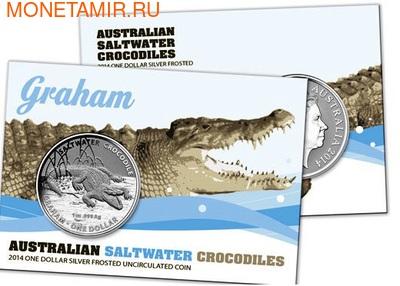 Австралия 1 доллар 2014. Австралийский Морской Крокодил - Грэм.Арт.000177944738 (фото)