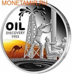 Ниуэ 1 доллар 2013. Открытие нефти в Австралии (фото)