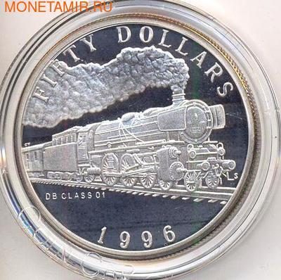 Маршалловы острова 50 долларов 1996. Поезд - DB Class 01 (фото)
