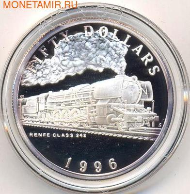 Маршалловы острова 50 долларов 1996. Поезд - Renfe Class 242 (фото)