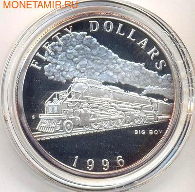 Маршалловы острова 50 долларов 1996. Поезд - Big Boy (фото)