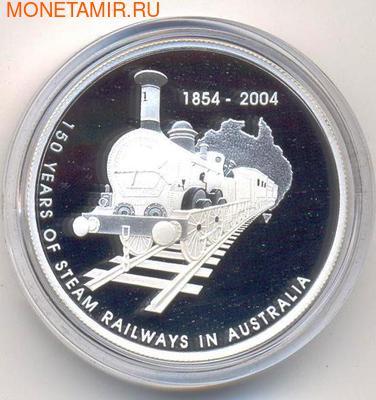 Австралия 5 долларов 2004. 150 лет железной дороге. (фото)
