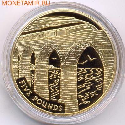 Олдерни 5 фунтов 2006. Поезд на мосту. (фото)