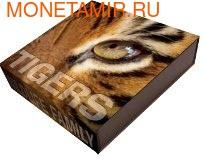 Ниуэ 1 доллар 2013. Тигры. Ультравысокий рельеф. (фото)