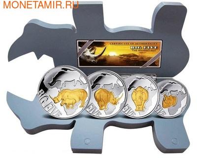 """Конго 400 франков 2013. Набор монет """"Большая пятерка"""". Носорог (фото)"""