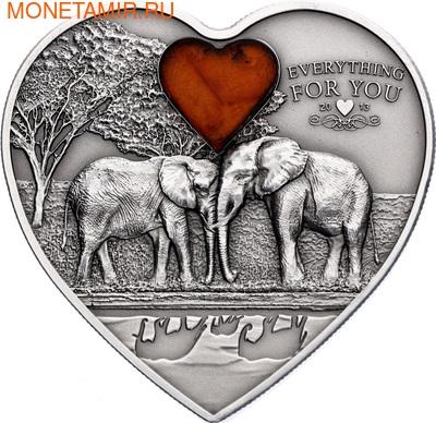 """Палау 5 долларов 2013.Слоны - """"Все для тебя"""".Арт.000351744913/60 (фото)"""