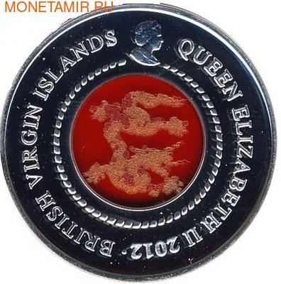 Британские Виргинские острова 10 долларов 2012. Год Дракона. (фото)