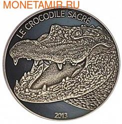 Буркина-Фасо 1000 франков 2013. Священный крокодил. (фото)