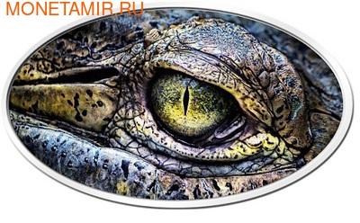 Ниуэ 2 доллара 2013. Глаз крокодила. Высокий рельеф (фото)