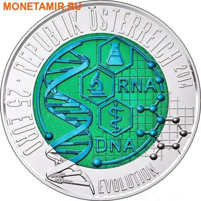 """Австрия 25 евро 2014. """"Эволюция"""""""