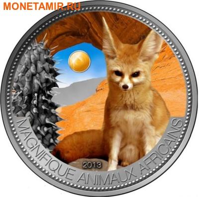 Нигер 1000 франков 2013 Лиса Фенек серия Великолепные животные Африки.Арт.001000047533 (фото)
