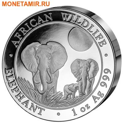 Сомали 100 шиллингов 2014.«Слоны» из серии «Дикая Африка»(High Relief).Арт.000220245605 (фото)