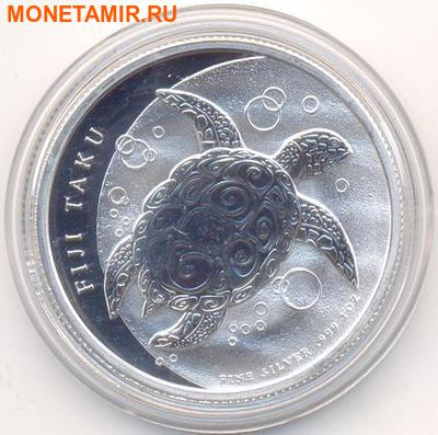 "Фиджи 2 доллара 2013.""Морская Черепаха Таку"". (фото)"