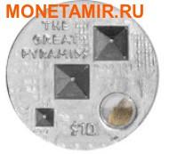 """Британские Виргинские Острова 10 долларов 2013.""""Великие Пирамиды""""-3D.Арт.000663046719 (фото)"""