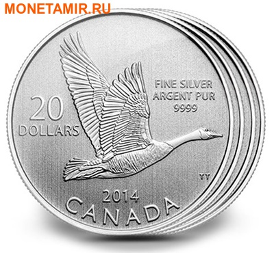 "Канада 20 долларов 2014.""Гусь"".Арт.000077846281/60 (фото)"