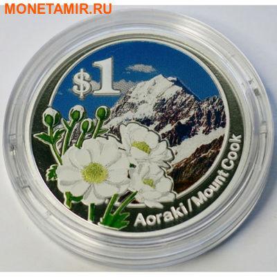 """Новая Зеландия 1 доллар 2007."""" Национальный парк- Аораки Маунт Кук"""".Арт.000166346088 (фото)"""