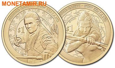 Новая Зеландия 1 доллар 2013. Набор из 2 никелевых монет. «Хоббит: Пустошь Смауга».Арт.000166346300 (фото)
