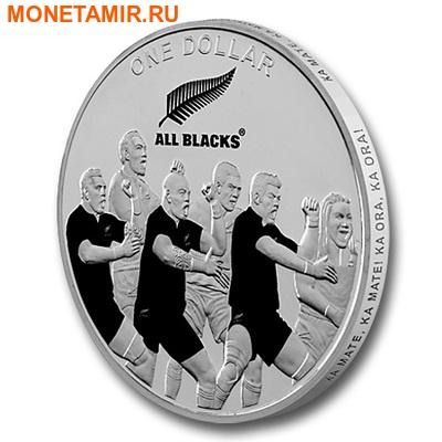 Новая Зеландия 1 доллар 2011. «Регби-Олл Блекс». « Новозеландские регбисты «танцующие» хаку».Арт.000287145515 (фото)