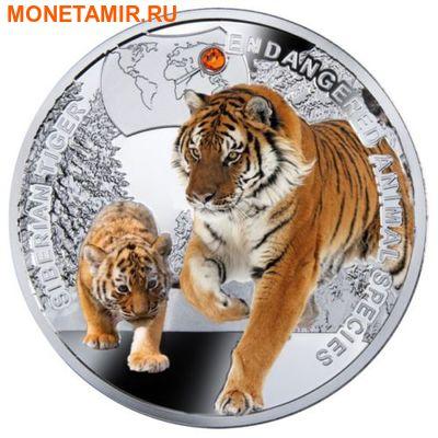 Ниуэ 1 доллар 2014. «Амурский Тигр» серии «Вымирающие виды животных».Арт.000332546327 (фото)