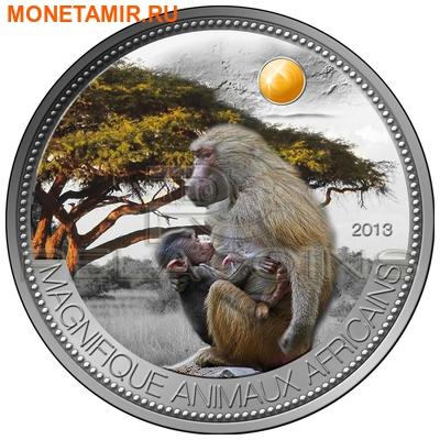 """Нигер 1000 франков 2013.""""Бабуин"""" серия """"Великолепные животные Африки"""".Арт.000345946663 (фото)"""