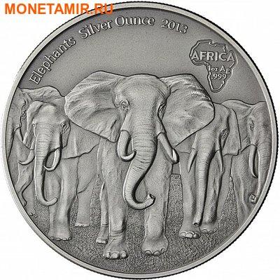 Гана 5 седи 2013.Слоны.Арт.000266346921/60 (фото)