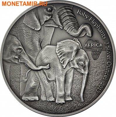 Габон 2000 франков 2013. «Слоны и слоненок».Арт.000345246964 (фото)