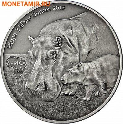 Конго Республика 2000 франков 2013.Бегемот c детенышем.Арт.001031446966/60 (фото)