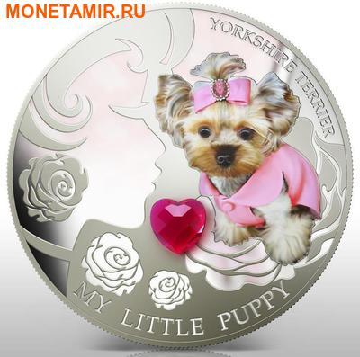 Фиджи 2 доллара 2013.Йоркширский терьер - Мой маленький щенок серия Собаки и кошки.Арт.000358046364/60 (фото)