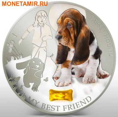 Фиджи 2 доллара 2013.Бассет - Мой лучший друг серия Собаки и кошки.Арт.000358046367/60