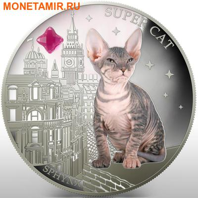 Фиджи 2 доллара 2013.Сфинкс - Супер кошка серия Собаки и кошки.Арт.000358046379/60 (фото)